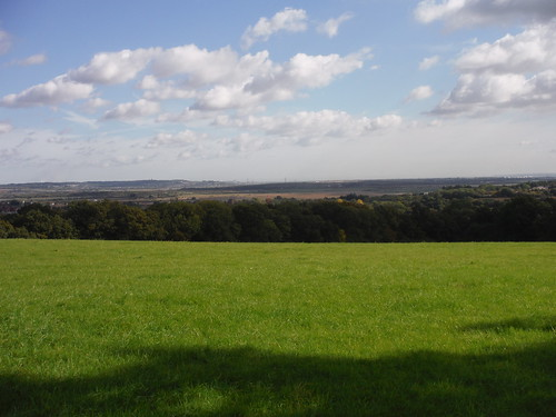Fobbing Marshes and Canvey Island, from One Tree Hill