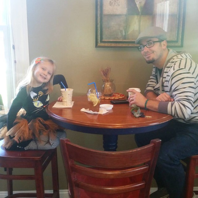 Grant had the day off today, so he picked Lily up from preschool and bought her a hot chocolate. She was so excited!!! ❤