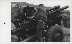 Marines Performing Maintenance on a Howitzer, 1968