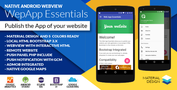 Codecanyon Native Web App Essentials