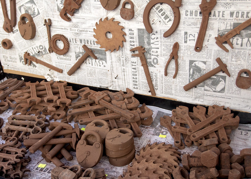 Tools from chocolate - Market in Vilnius