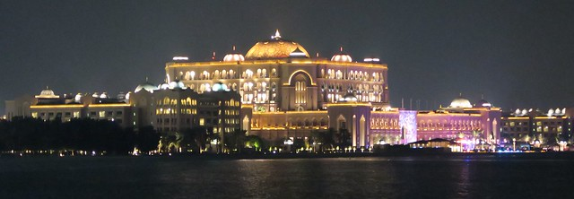 emirates palace hotel at night