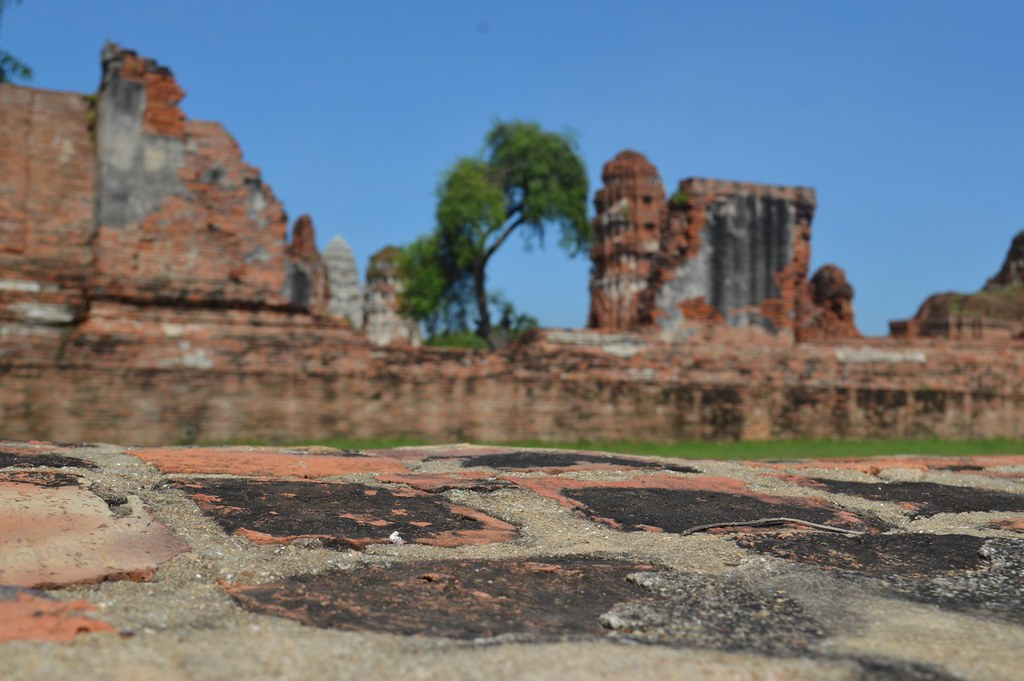 In the old town of Ayutthaya in Thailand