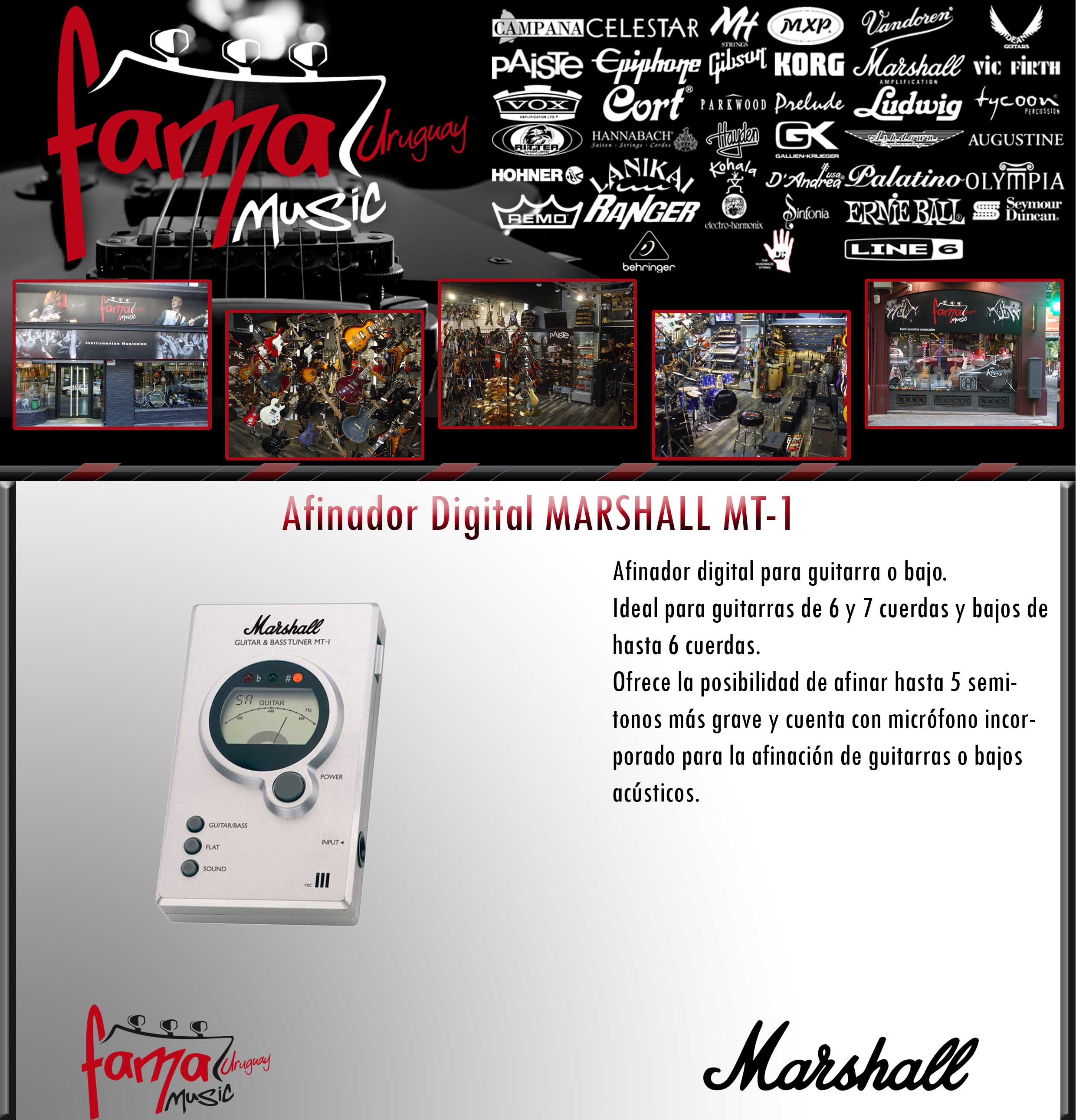 Afinador Digital MARSHALL MT-1