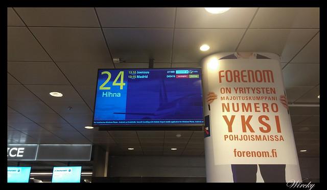 Laponia viaje Madrid Helsinki - Recogida de equipaje
