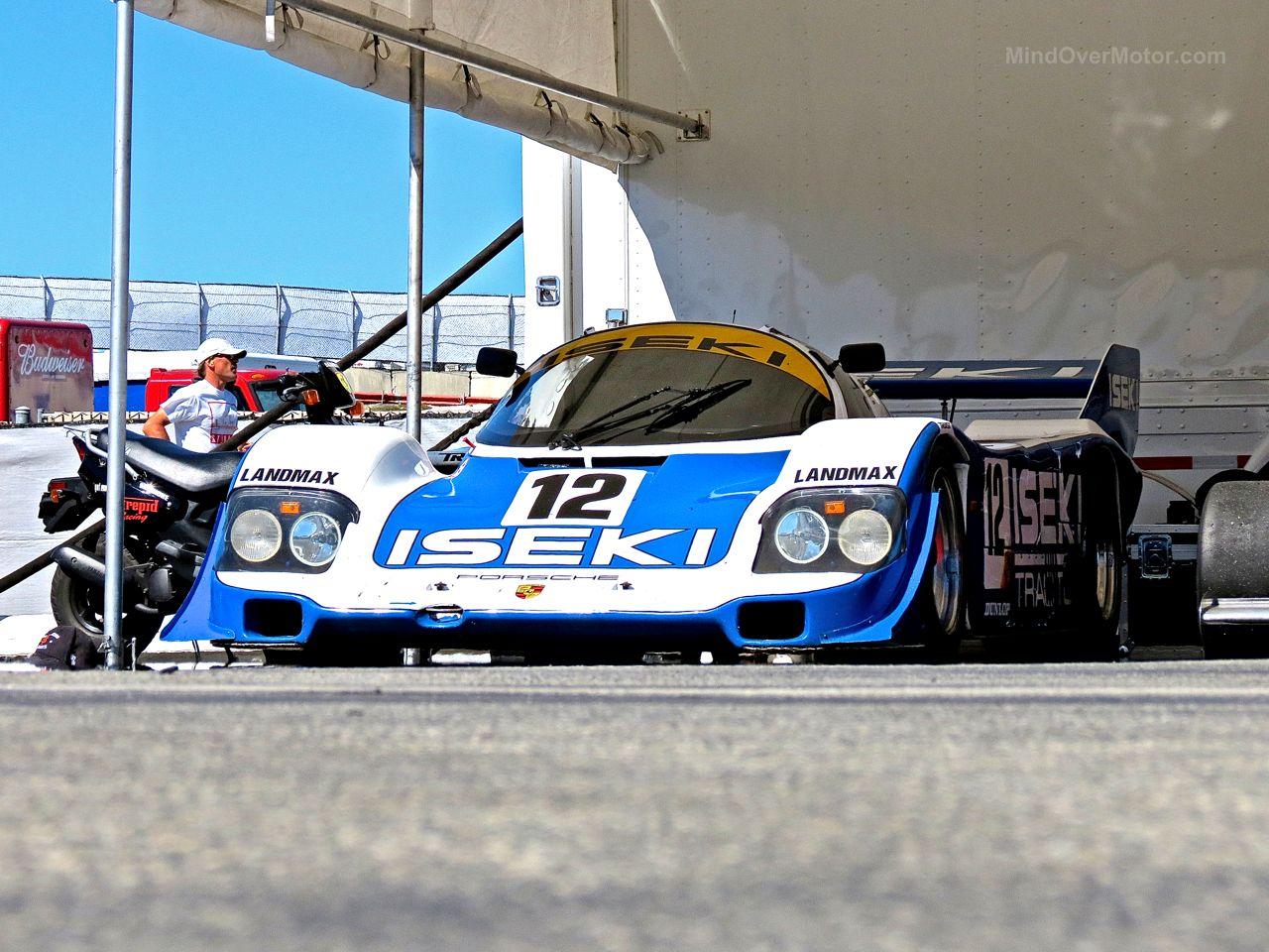 Porsche 956 Laguna Seca Paddock