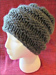 Gray Ribbed Hat