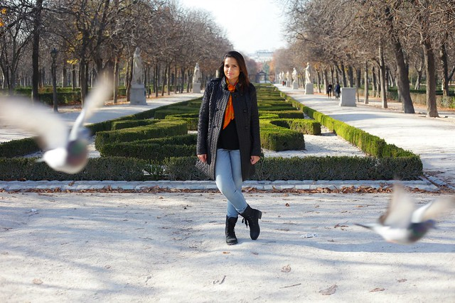 Jacket - Francesca's  Scarf - Really old. Like from childhood. Tee - GAP Jeans - Rag & Bone Boots - Famous Footwear Royal Palace of Madrid Tanvii.com