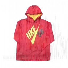 N*Ke Pullover Mesh Hoodie Outwear Fleece Linning Mix Take 4-16 Years
