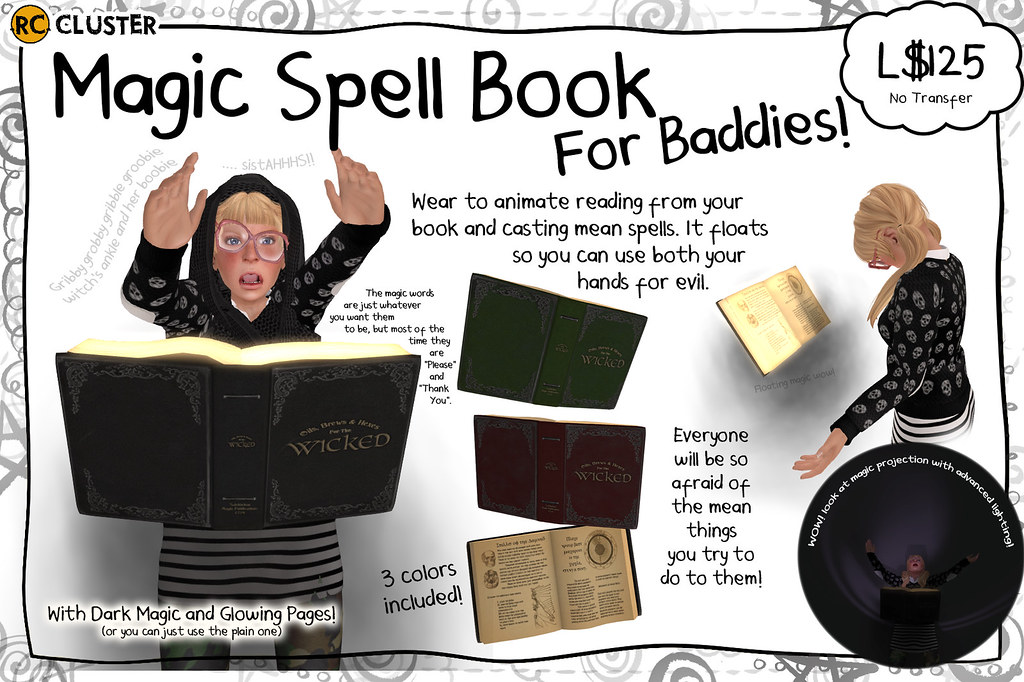 -RC- Spell Book for the Bad - SecondLifeHub.com