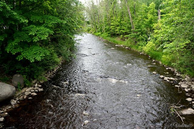 Naberezhnaya reki Losoinka. Petrozavodsk. Russia