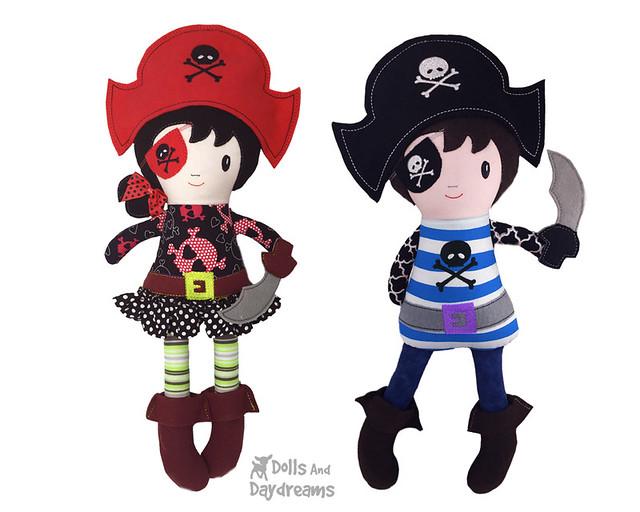 Pirate ITH Embroidery Machine Pattern