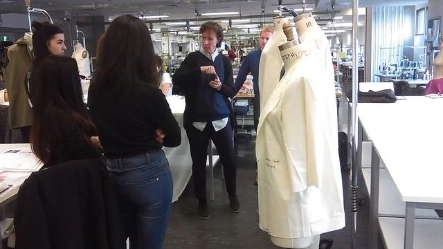 Sarah Charles leading her fashion design studio