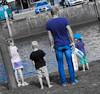 Gezin in blauw by v_rijswijk