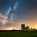 Starlit Knowlton Church by DorsetScouser