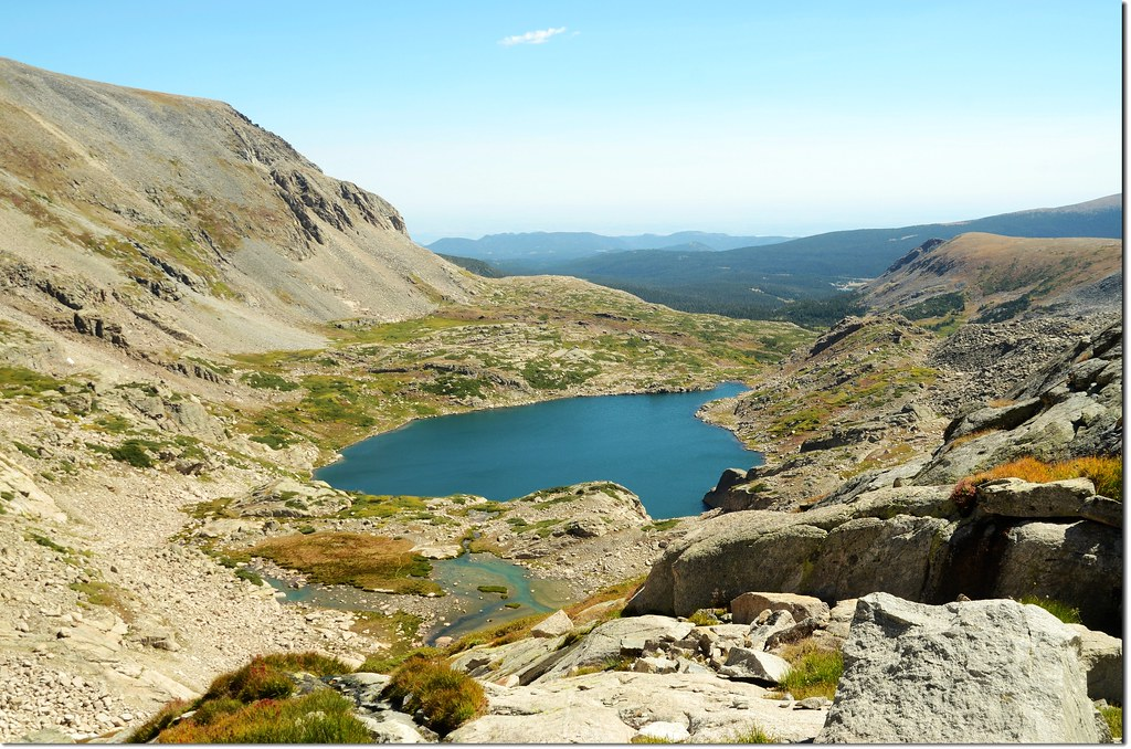 Overlooking down on Blue Lake from Upper valley 2