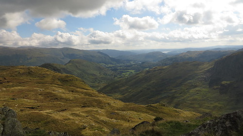 view from calf crag toward grasmere