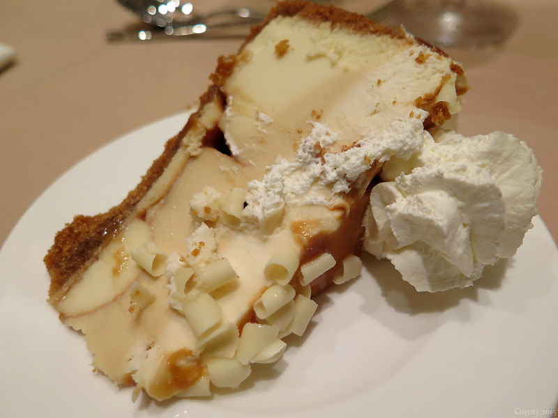 Caramel almond cheesecake