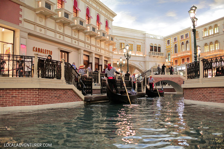 The Venetian Gondola Ride Las Vegas.