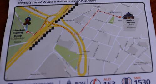 カーリエへの地図