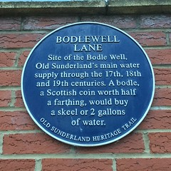 Photo of Bodle Well blue plaque