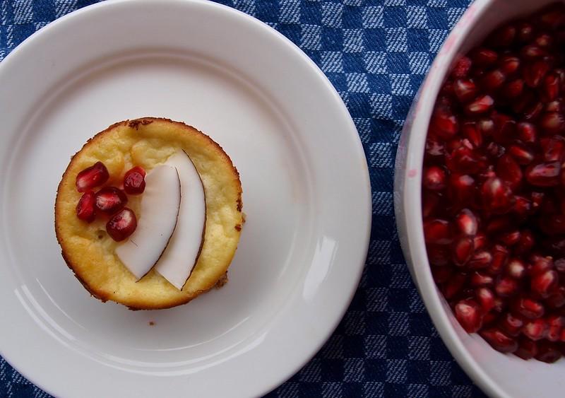 Mini-Käsekuchen mit Granatapfel