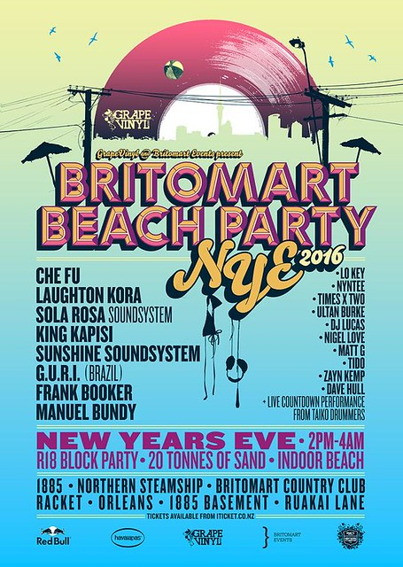 Britomart Beach Party - 31st Dec 2015, Auckland