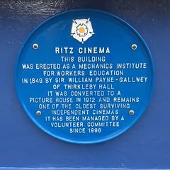 Photo of Ritz Cinema, Thirsk blue plaque