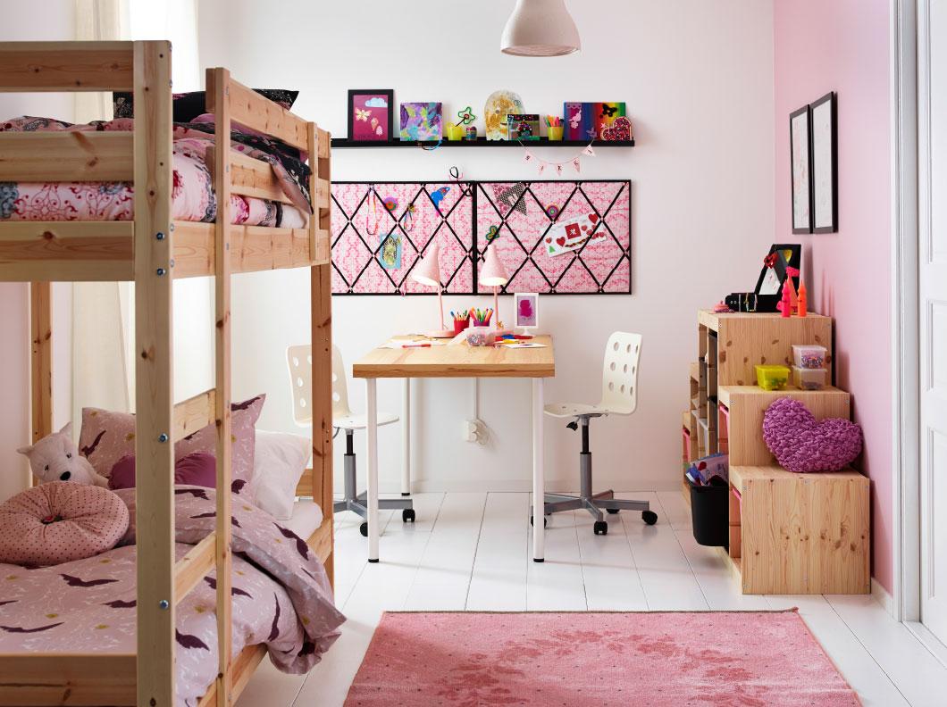title- IKEA Girls Pink Room