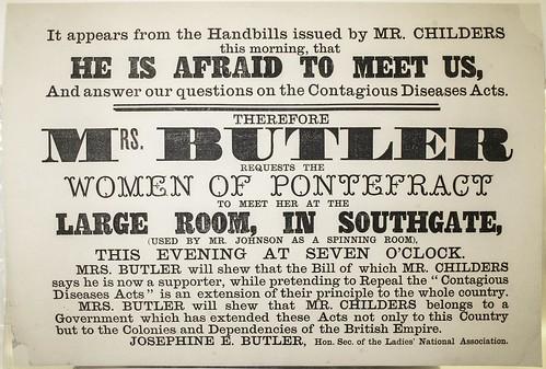 Josephine Butler addresses the women of Pontefract, 1872.