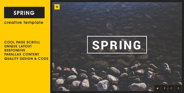 ThemeForest Spring v1.0 - Creative One Page Template
