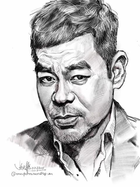 Had a hard time fixing the likeness....😅 iPad Pro + Apple Pencil + Procreate.  Sean Lau 劉青雲 digital portrait sketch