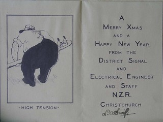 Christchurch Signals and Engineers Office Christmas Card, 1950