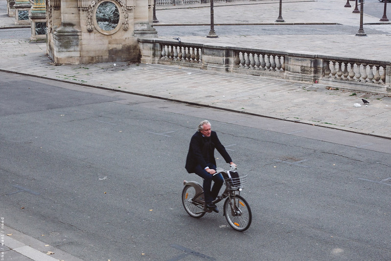 Man on Bike, Jardin des Tuileries