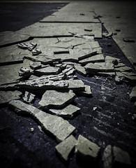 Broken & Brittle Asbestos Floor Tile