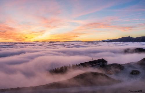Tramonto sul Monte Pizzoc