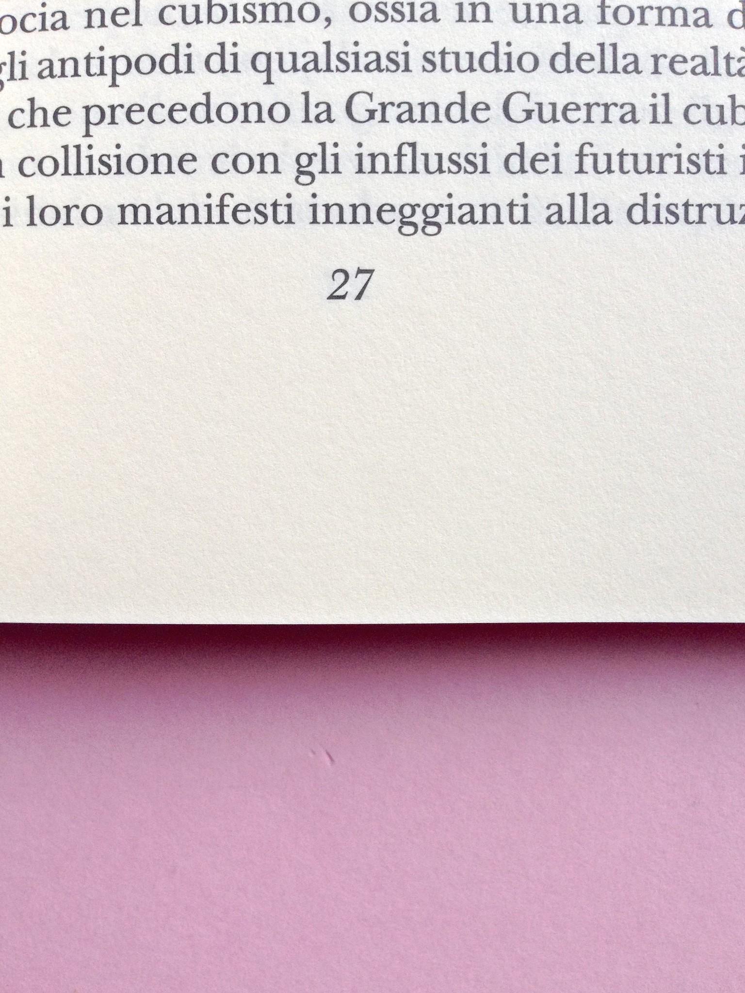 Proust a Grjazovec, di Józef Czapski. Adelphi 2015. Resp. grafica non indicata. Sistema della numerazione dele pagine, centrato, al piede della pagina, a pag. 27 (part.), 1