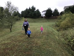 Taking the twins on a walk today