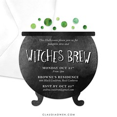 Who's celebrating Halloween? I just finished working on this party invitation #halloween #halloween2016 #witchesbrew #partysupplies #party #invitations