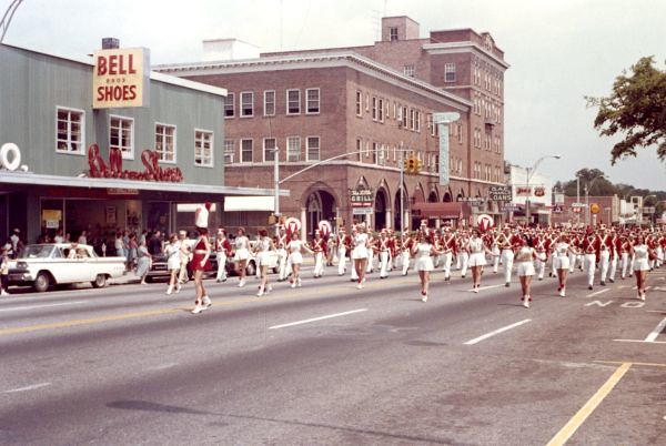 Leon High Marching Redcoats in Tallahassee parade