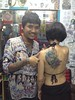 Traditional bamboo tattoo by King