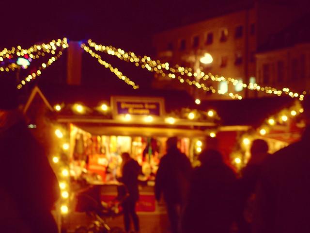 Christmas Market Bokeh