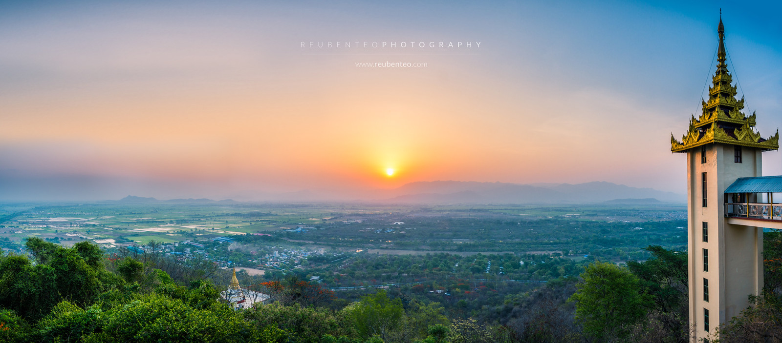 Sunrise at Mandalay Hill