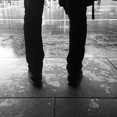 footwear, white, monochrome photography, limb, leg, standing, monochrome, black-and-white, black,