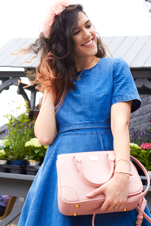 pink marc b bandbag