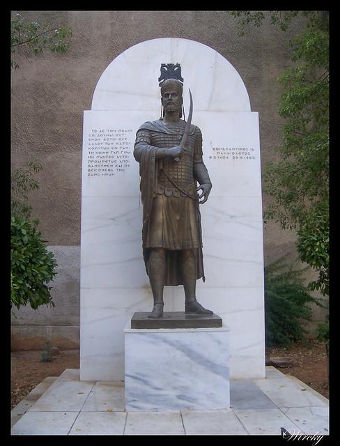 Grecia visita Atenas - Emperador bizantino Constantino XI