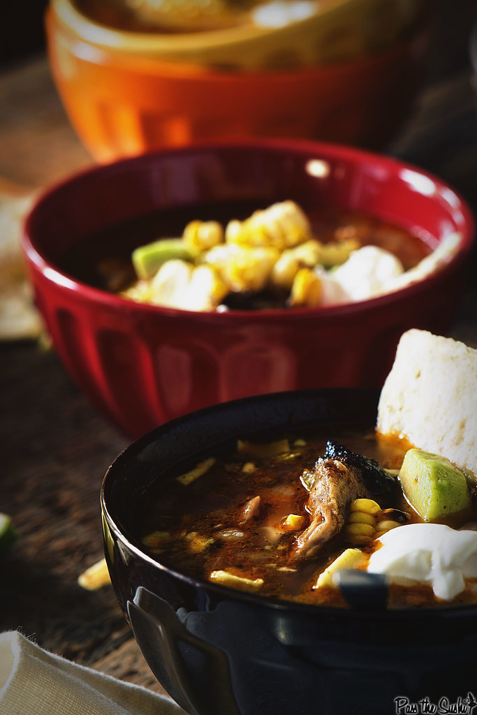 Grilled Chicken Tequila Tortilla Soup Recipe | GirlCarnivore.com