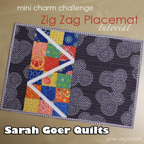 Mini Charm Challenge: Zig Zag Placemat Tutorial - Sarah Goer Quilts