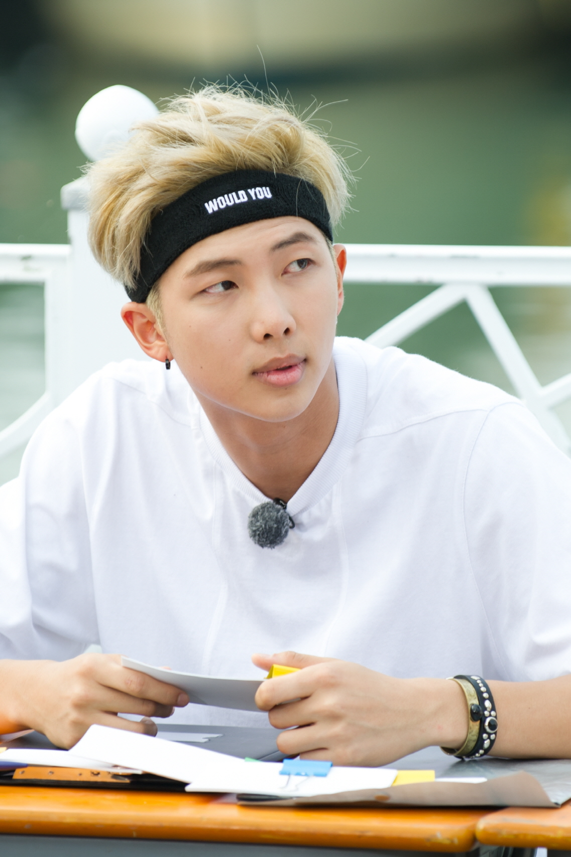 Picture Video Rap Monster During Running Man Filming