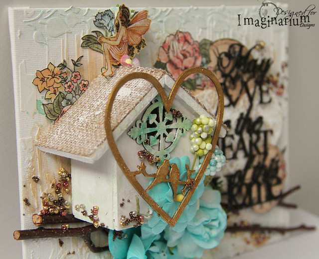 """""""May Love Be The Heart Of This Home"""" Canvas"""